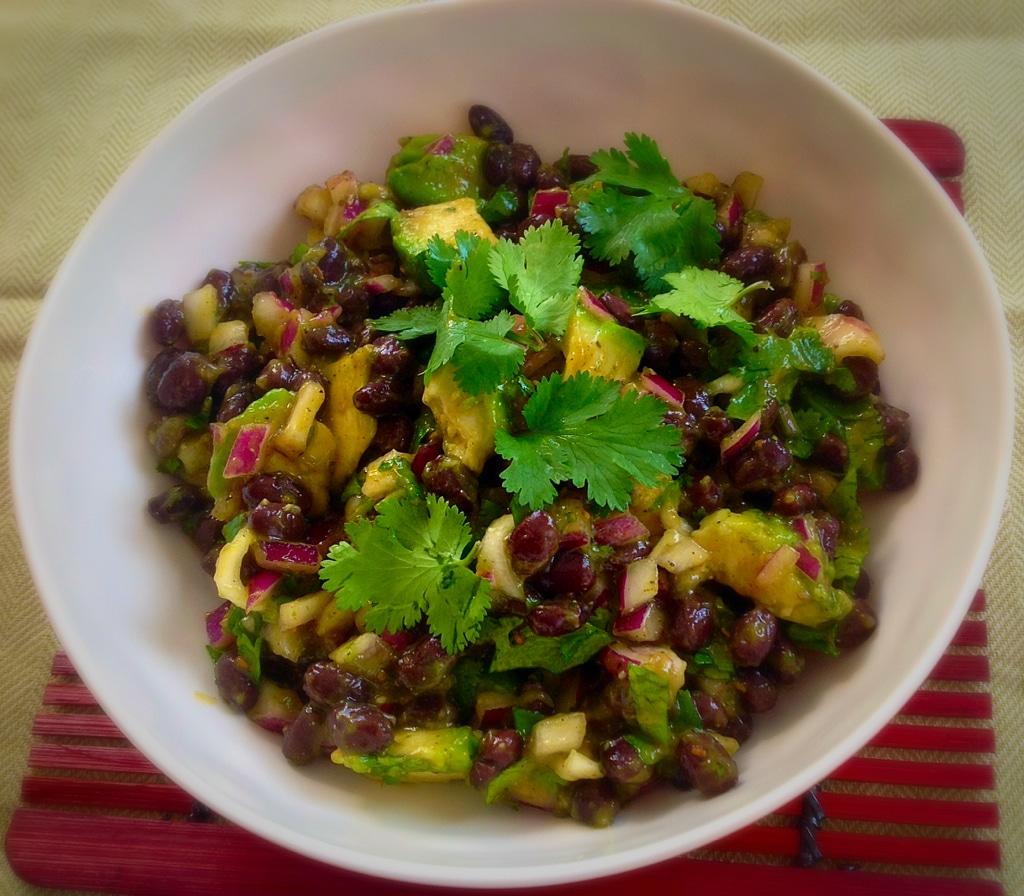 Black Bean Salad with Papaya Sauce
