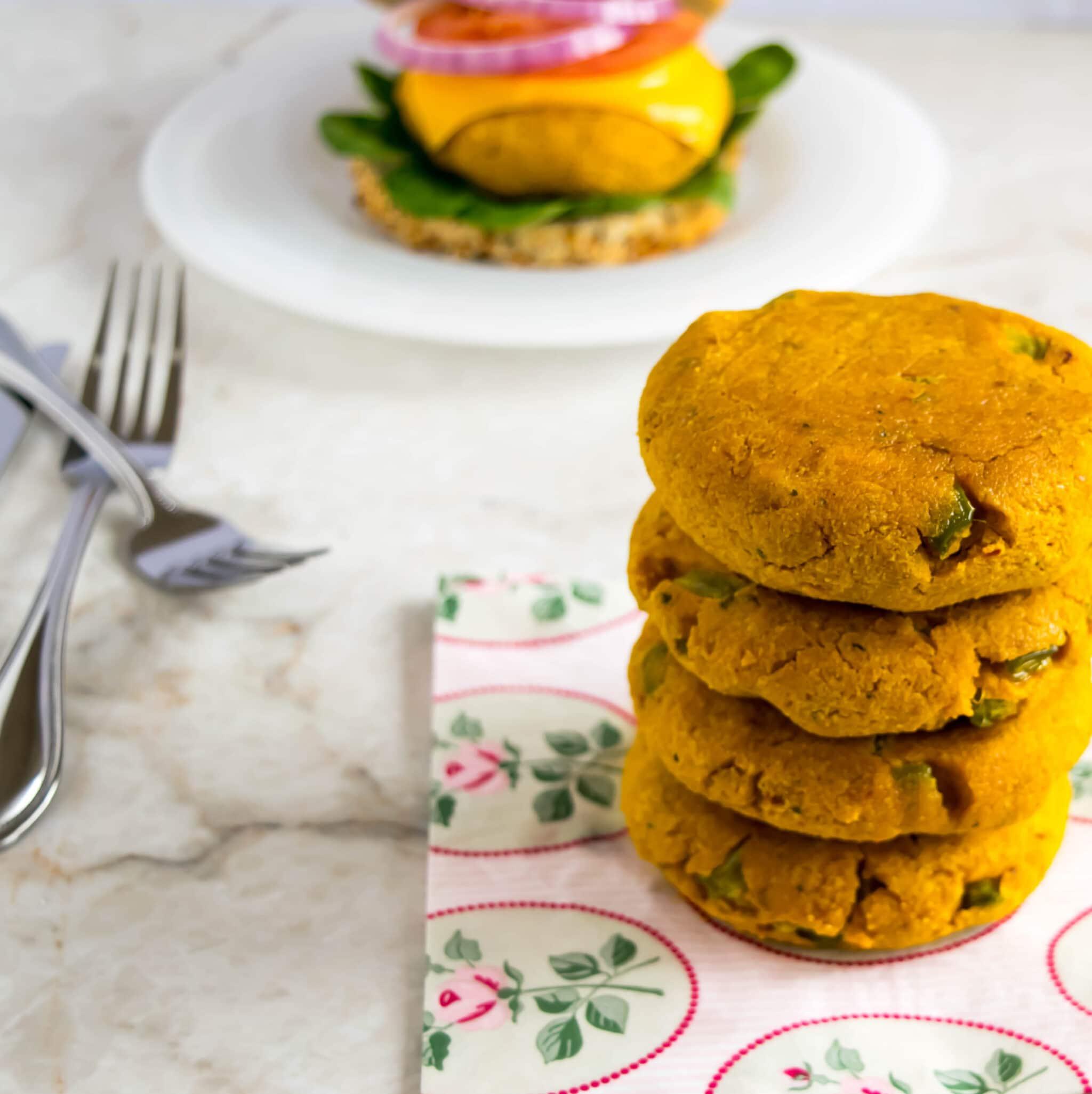 Pumpkin Almond Burger Patties