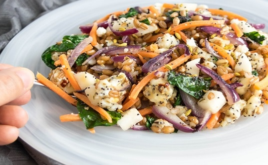 Wheat Berries Sauteed with Paneer and Vegetables