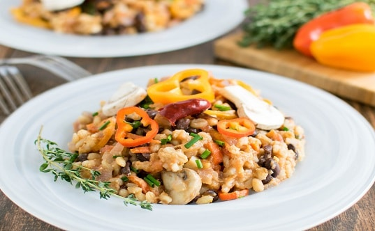Barley Black Beans Cottage Cheese Medley