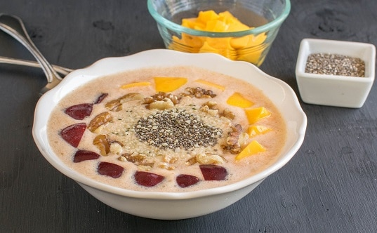 Carrot Oatmeal Smoothie Bowl