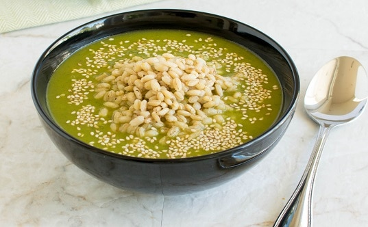 Cajun Spiced Barley Kale Soup