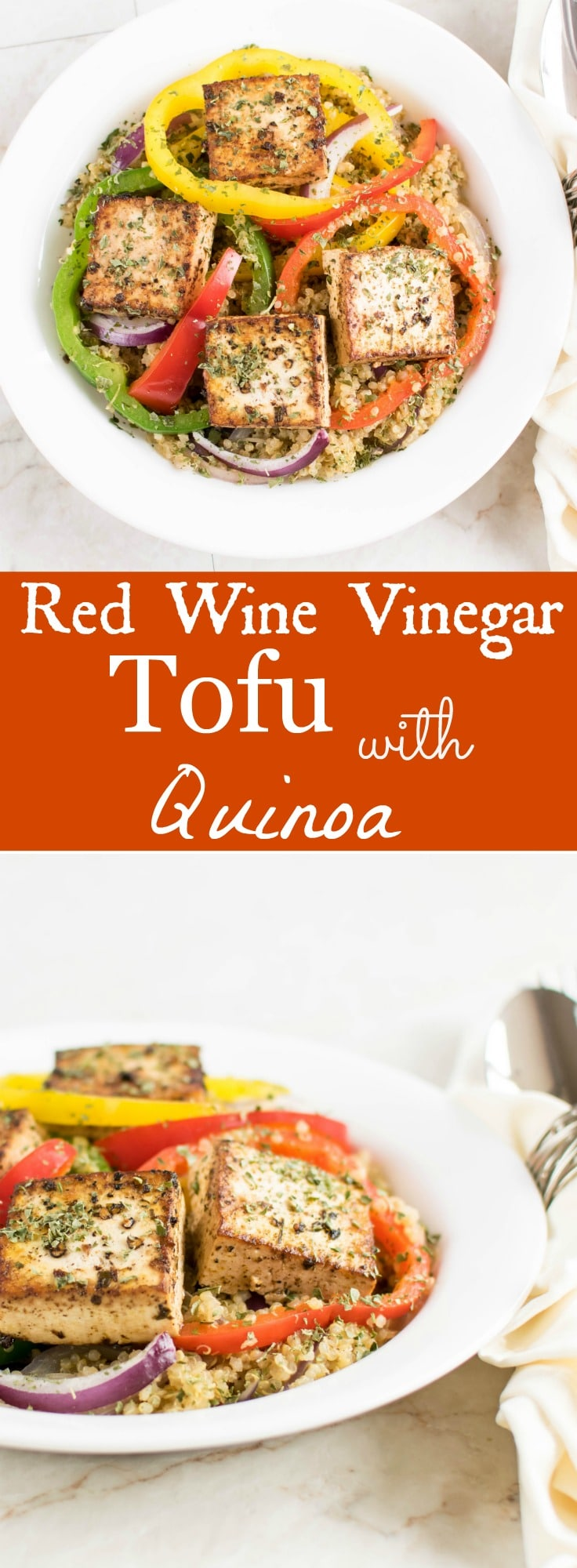 Red Wine Vinegar Tofu with Quinoa   30 minutes vegan and gluten free dish flavored with Italian seasoning, herbs and cooked in red wine vinegar   kiipfit.com