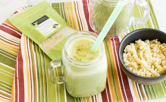 Green Papaya Powder Spinach Quinoa Smoothie