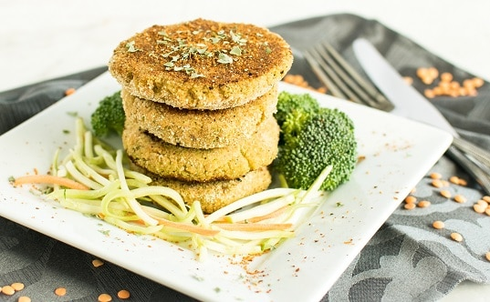 Lentil Broccoli Breakfast Cutlets