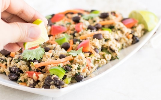 Black Beans Oatmeal Pilaf