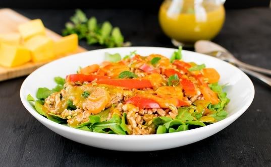 Farro Salad in Butternut Squash Dressing