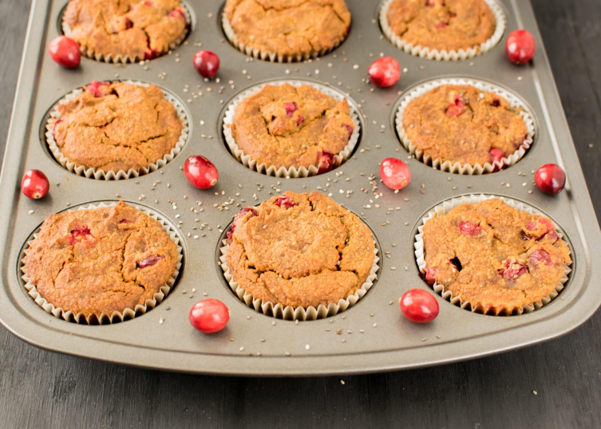 Cranberry Chia Muffins | vegan and paleo treat with 6 g of protein | kiipfit.com