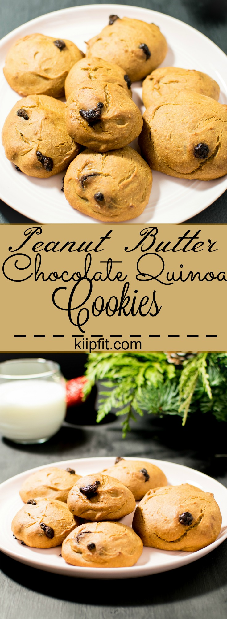 Peanut Butter Chococlate Quinoa Cookies - vegan and protein rich healthy dessert ready in only 30 minutes and so delicious | kiipfit.com