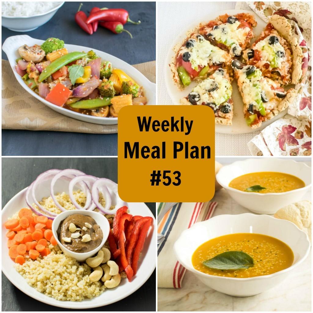 Weekly Meal Plan #53 | healthy vegan and vegetarian recipes | kiipfit.com