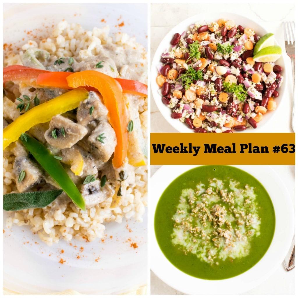 Weekly meal Plan #63 | healthy vegan and vegetarian recipes | kiipfit.com