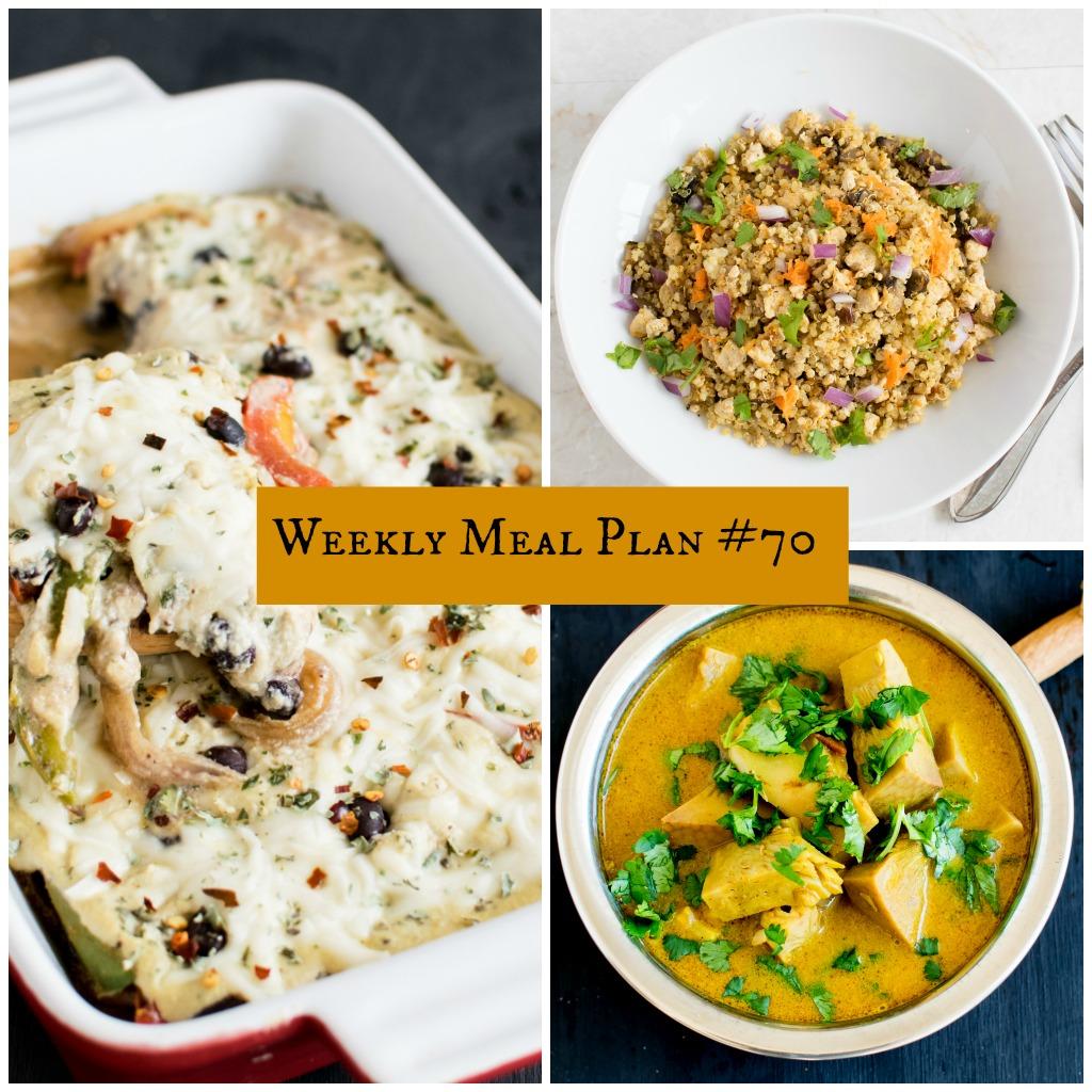Weekly Meal Plan #70 | healthy vegan and vegetarian recipes | kiipfit.com