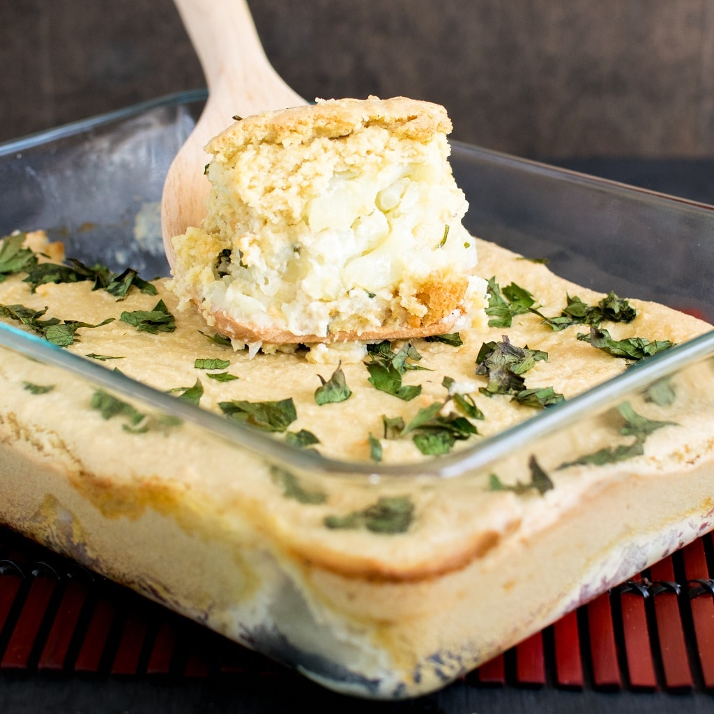 Vegan Cheese and Parsley Baked Cauliflower is simply an outstanding casserole dish. This casserole recipe is loved by my family especially my extended family [ GF ] kiipfit.com