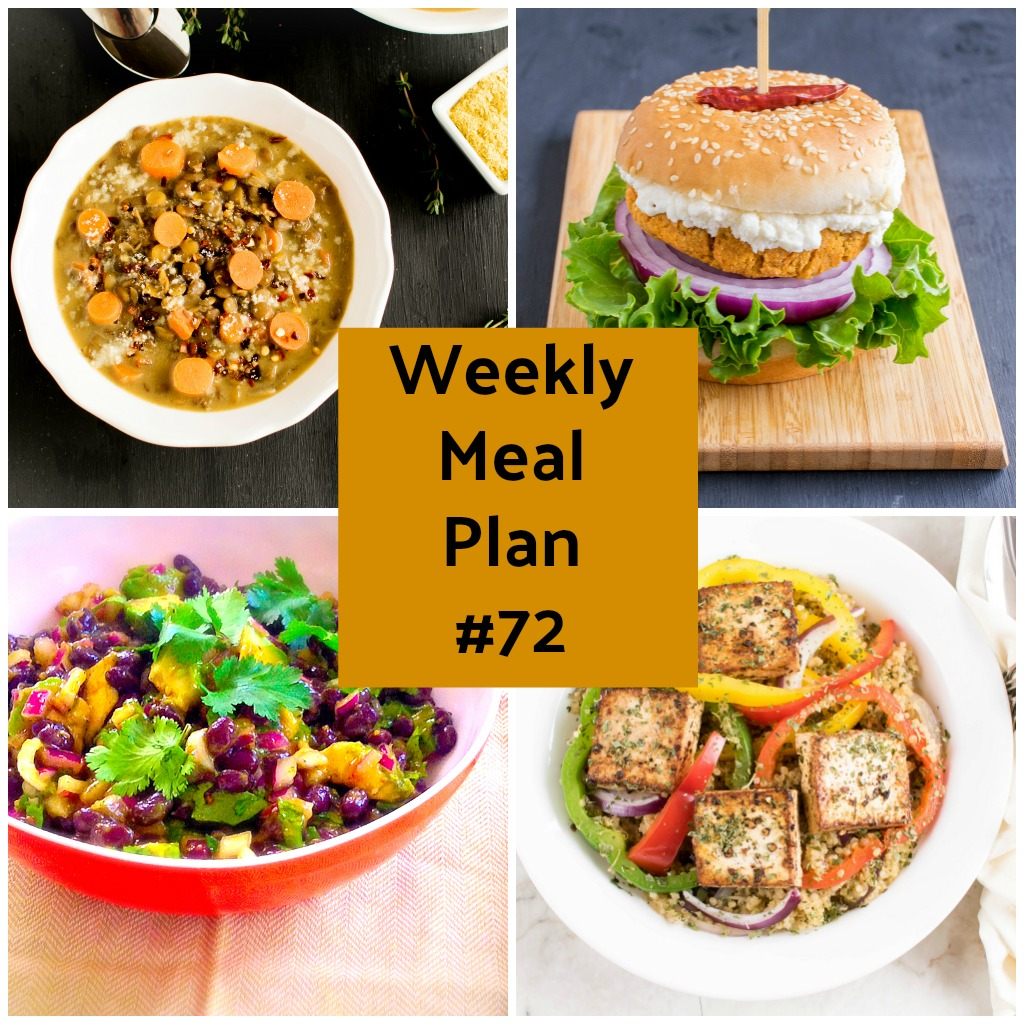 Weekly Meal Plan #72 healthy vegan and vegetarian recipes | kiipfit.com