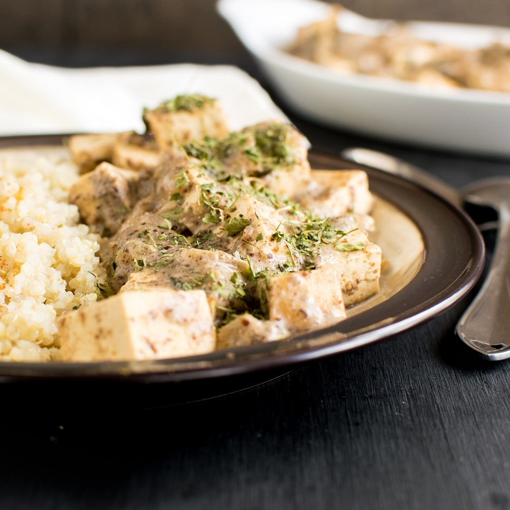 Nut Free Tofu Flax Curry is a unique and absolutely amazing entree. I bet you haven't eaten anything like this before. Yes, you got it right, the gravy base of this entree is made from ground flax seeds, that is, whole ground flax meal. I know it's simply unimaginable [ vegan + gf + df ] kiipfit.com