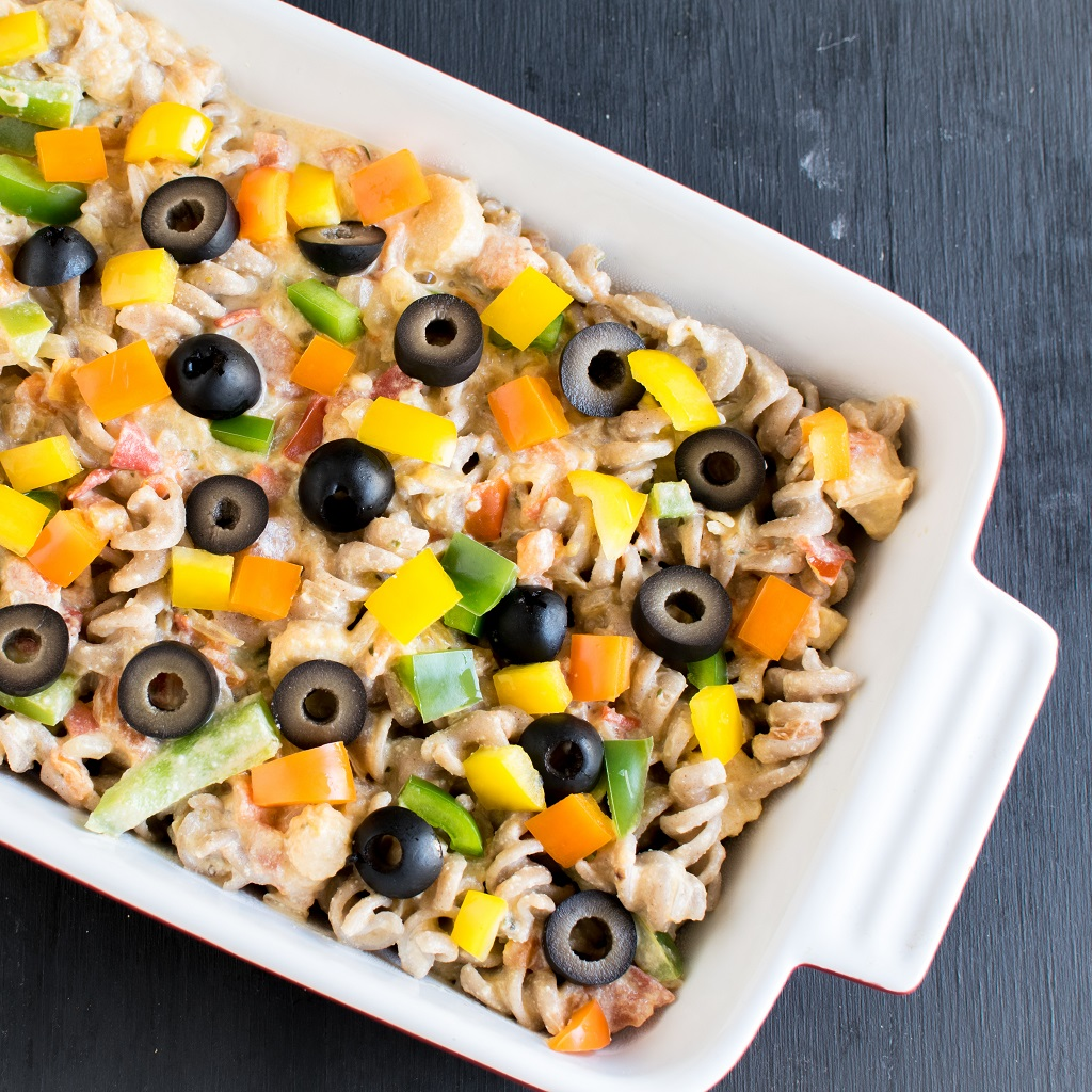 Baked Cashew Cream Vegetable Pasta is packed with delicate flavors and loaded with nutrition. Even though its carbohydrate loaded yet it's healthy and guilt free [ vegan ] kiipfit.com