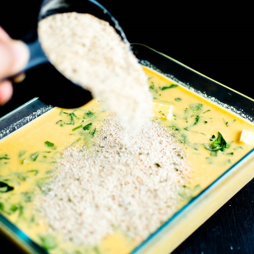 Bread crumbs covering the casserole dish is shown in action | kiipfit.com